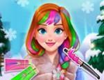 لعبة قص شعر الاميرة آنا أميرة الثلج